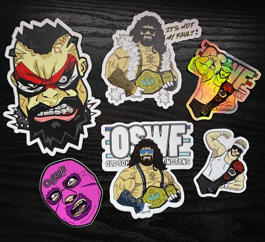 Pro Wrestling Stickers